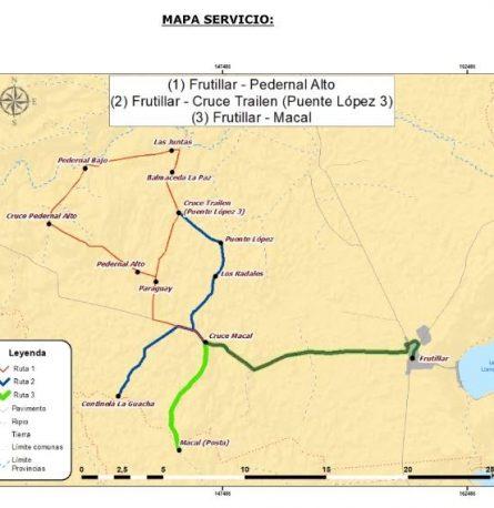62 millones de pesos serán destinados para conectividad rural al transporte público de Frutillar