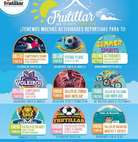 """Municipalidad invita a un """"Verano en Familia"""" con actividades deportivas y de entretención!!!"""