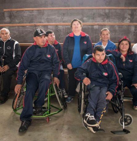 Encuentro de bochas Paralímpicos