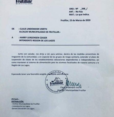 Frutillar solicita extender plazo de suspensión de clases para alumnos de la comuna y la región de Los Lagos