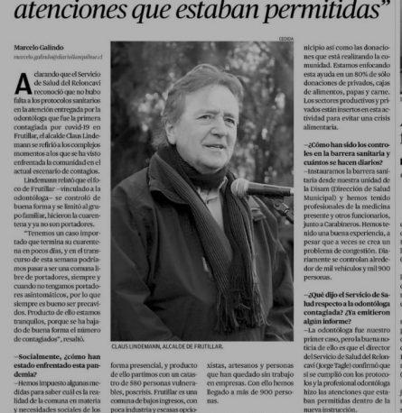 Entrevista de hoy del Alcalde Claus Lindemann