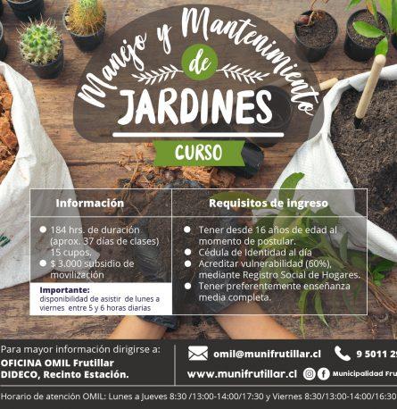 curso MANEJO Y MANTENIMIENTO DE JARDINES