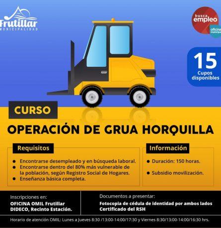 ¡CURSO DE OPERACIÓN DE GRÚA HORQUILLA!